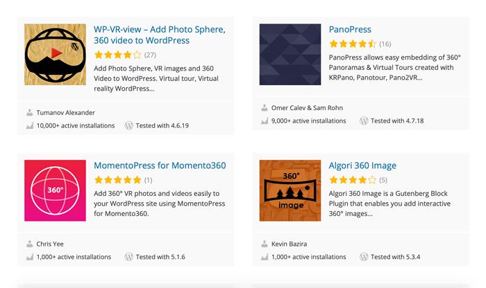 WordPress 360 panoramakuvat