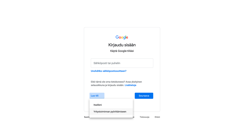 Google Account Step 2